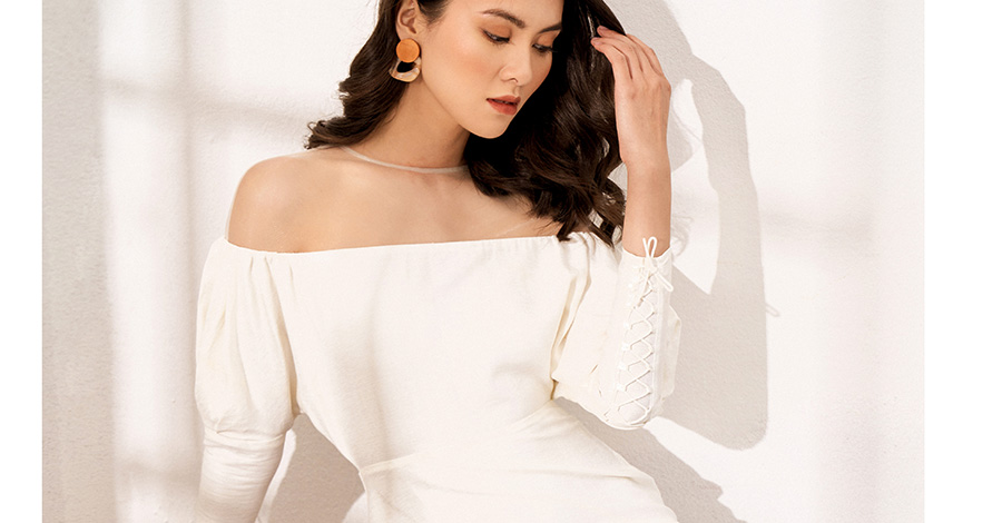 Elegant White Dress No.7